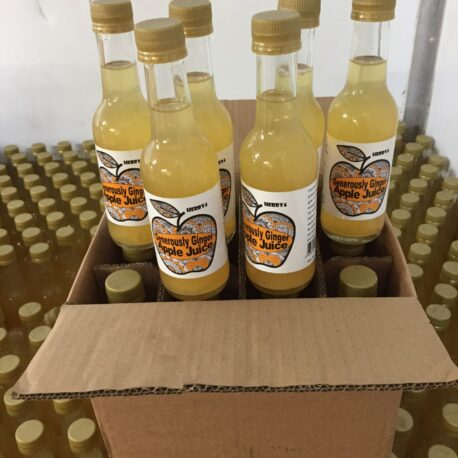 12 x bottles Herby4 generiously ginger apple juice