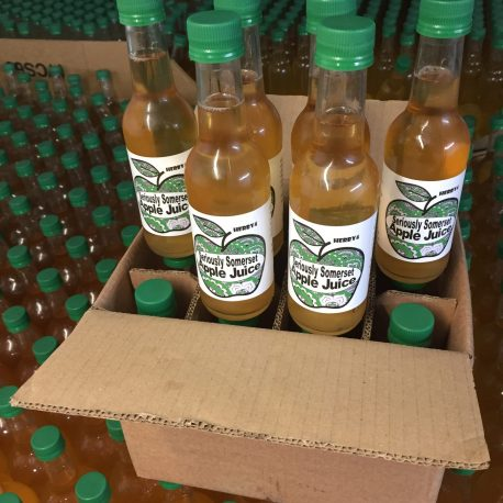 Twelve x 250ml bottles of Seriously Somerset Apple Juice